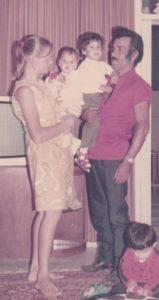 Eshkar's grandparents, Rina, left, and Razi, right